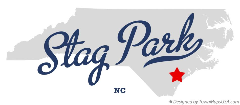 Map of Stag Park North Carolina NC