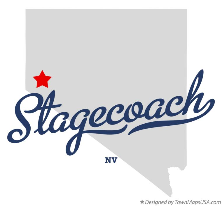 Map of Stagecoach Nevada NV