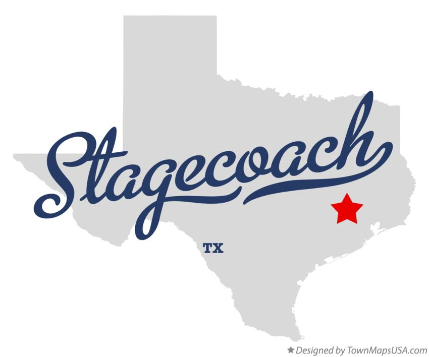 Map of Stagecoach Texas TX