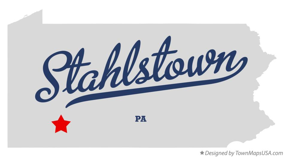 Map of Stahlstown Pennsylvania PA