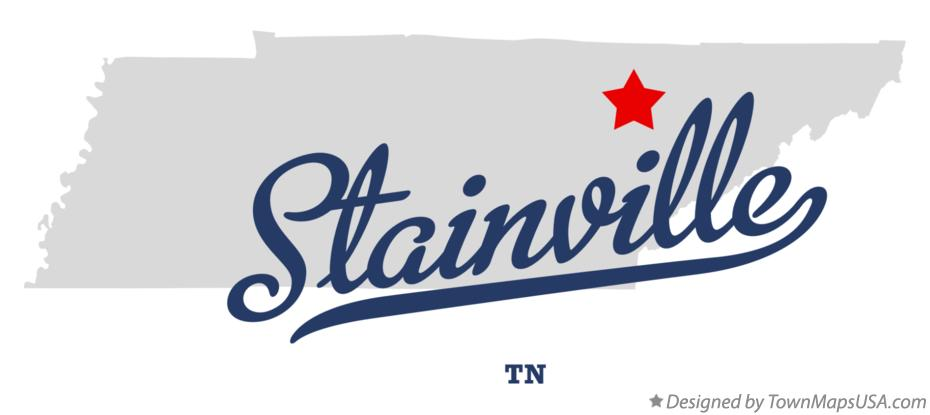 Map of Stainville Tennessee TN