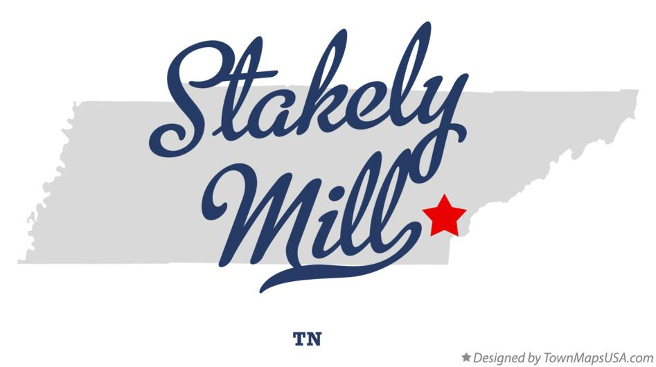 Map of Stakely Mill Tennessee TN