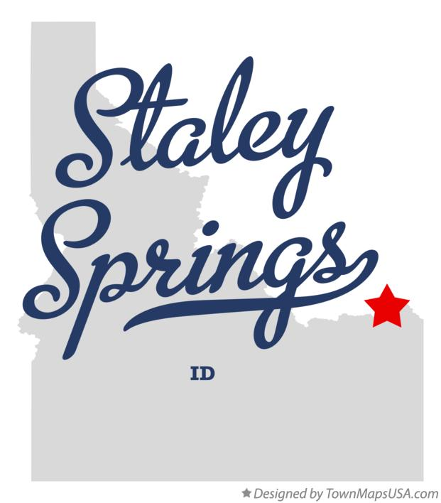 Map of Staley Springs Idaho ID
