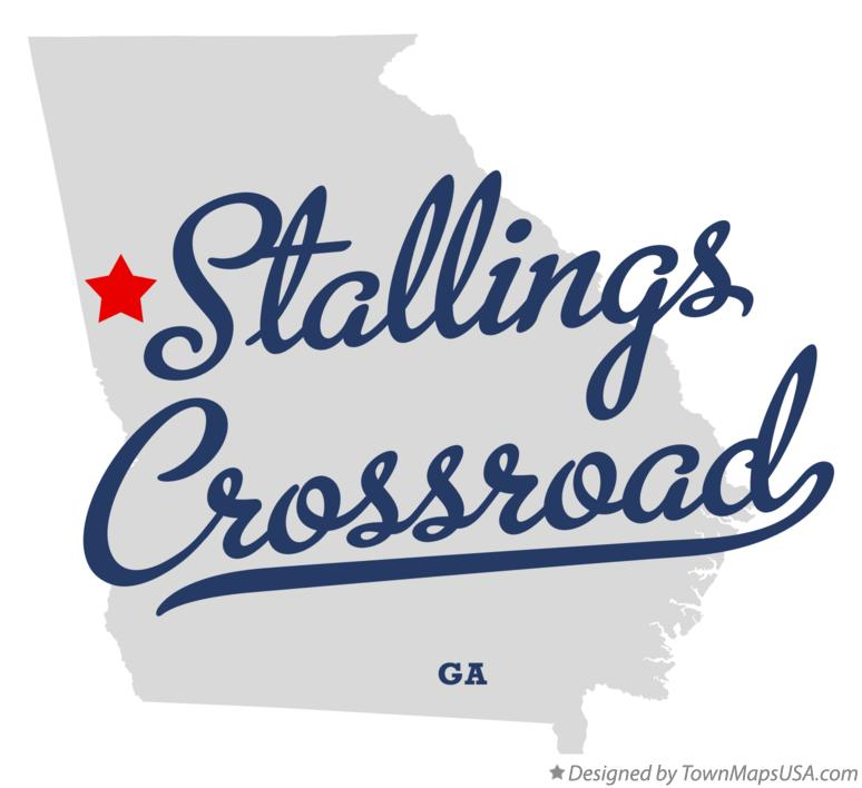 Map of Stallings Crossroad Georgia GA