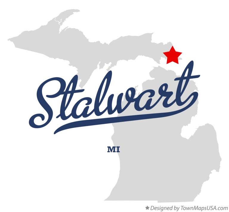 Map of Stalwart Michigan MI