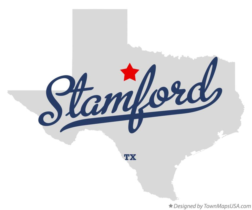 Map of Stamford Texas TX