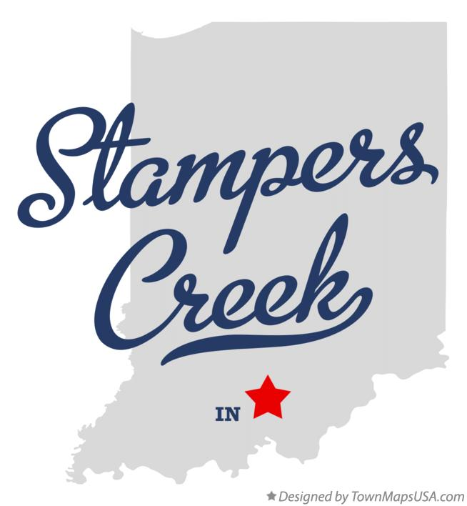Map of Stampers Creek Indiana IN