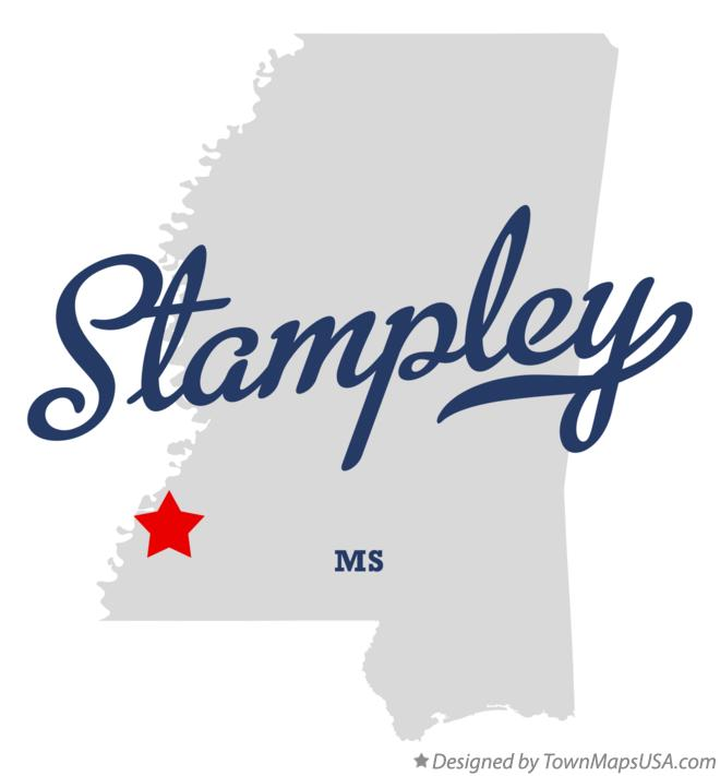 Map of Stampley Mississippi MS