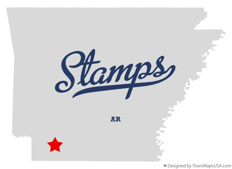 Map of Stamps Arkansas AR