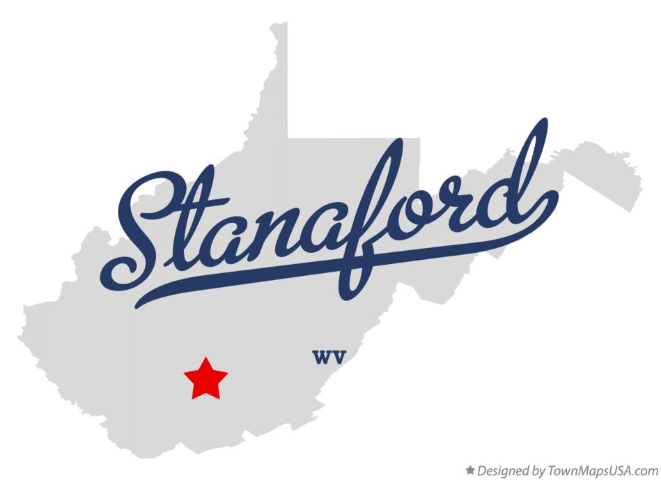 Map of Stanaford West Virginia WV