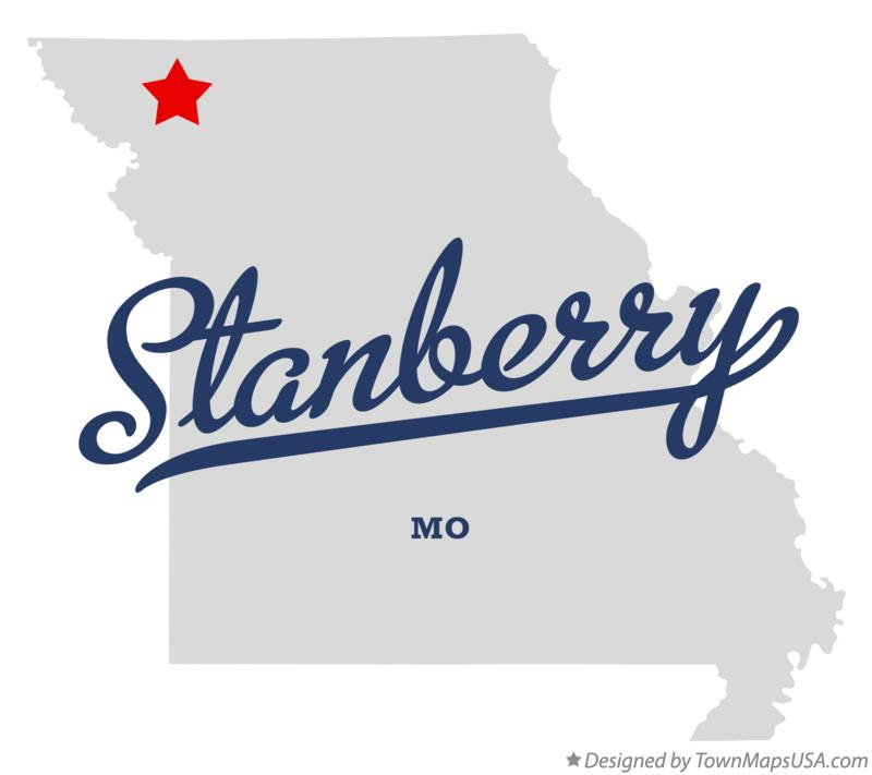 Map of Stanberry Missouri MO