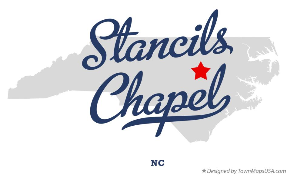 Map of Stancils Chapel North Carolina NC