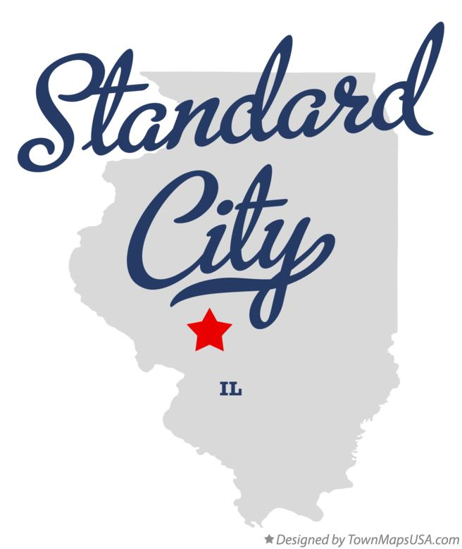 Map of Standard City Illinois IL