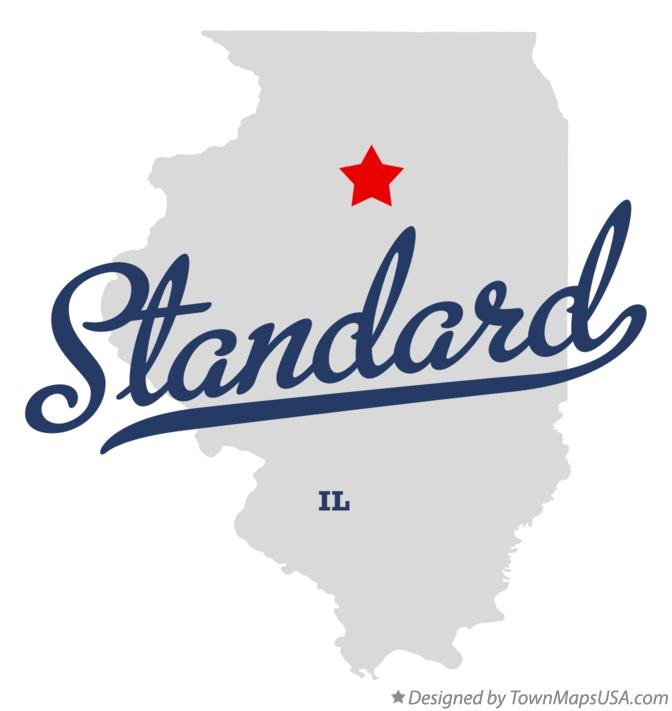 Map of Standard Illinois IL