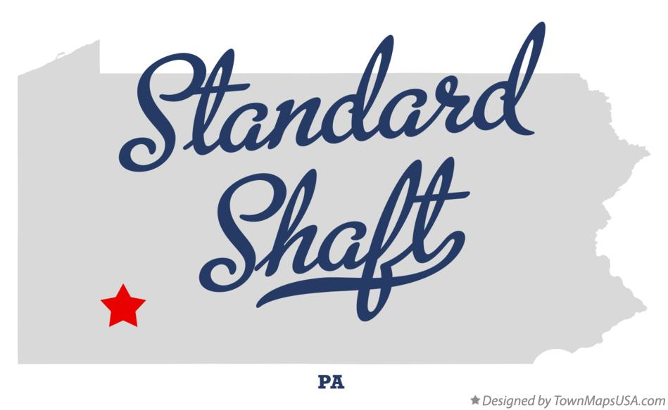 Map of Standard Shaft Pennsylvania PA