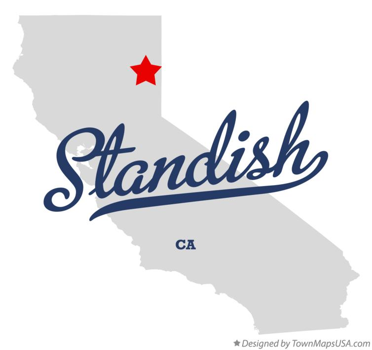 Map of Standish California CA