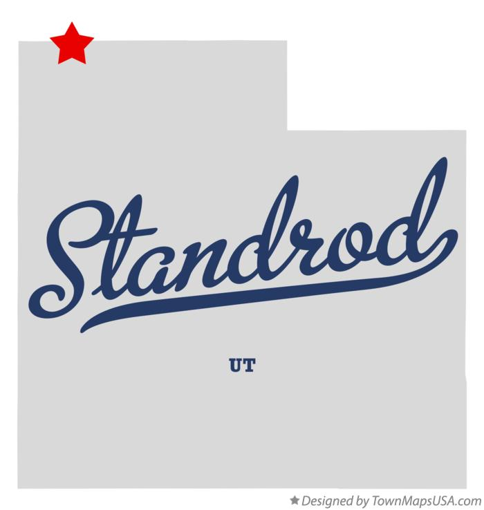 Map of Standrod Utah UT