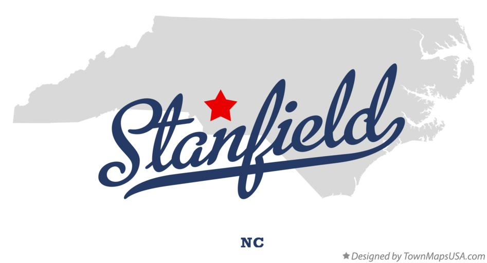 Map of Stanfield North Carolina NC