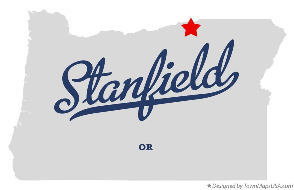 Map of Stanfield Oregon OR