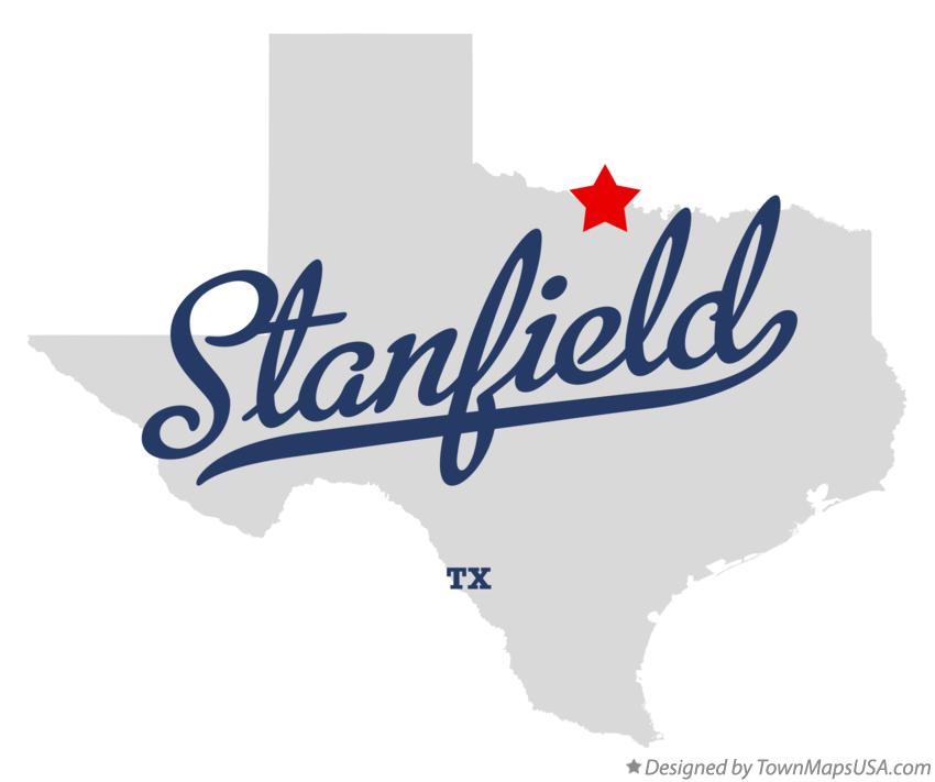 Map of Stanfield Texas TX