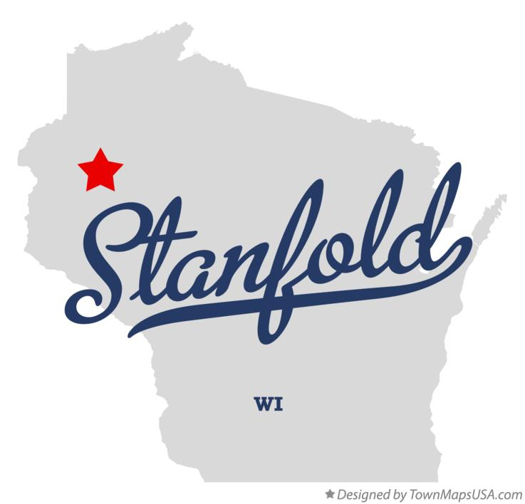 Map of Stanfold Wisconsin WI