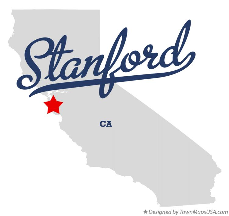 Map of Stanford California CA