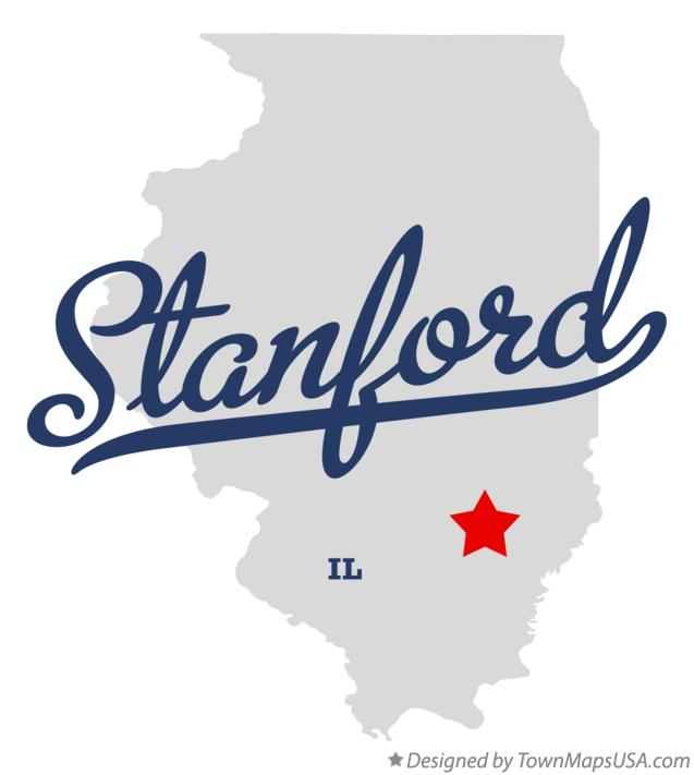 Map of Stanford Illinois IL