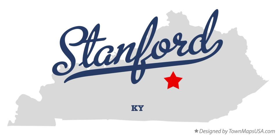 Map of Stanford Kentucky KY