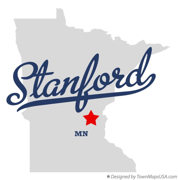 Map of Stanford Minnesota MN