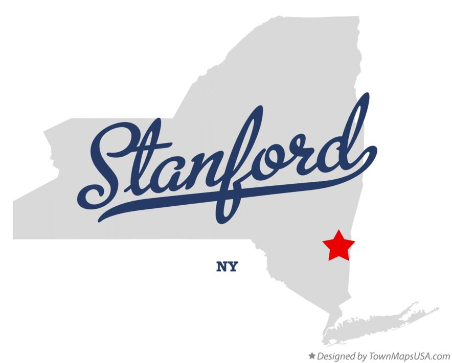 Map of Stanford New York NY
