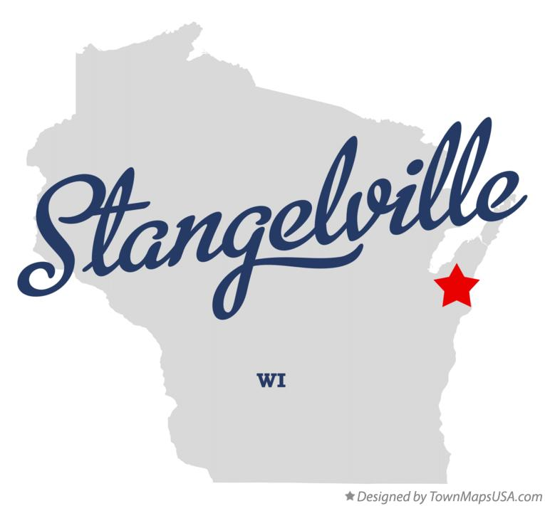 Map of Stangelville Wisconsin WI