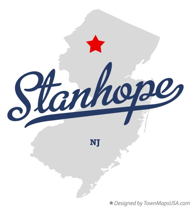 Map of Stanhope New Jersey NJ