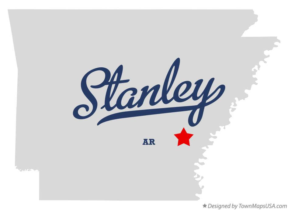 Map of Stanley Arkansas AR