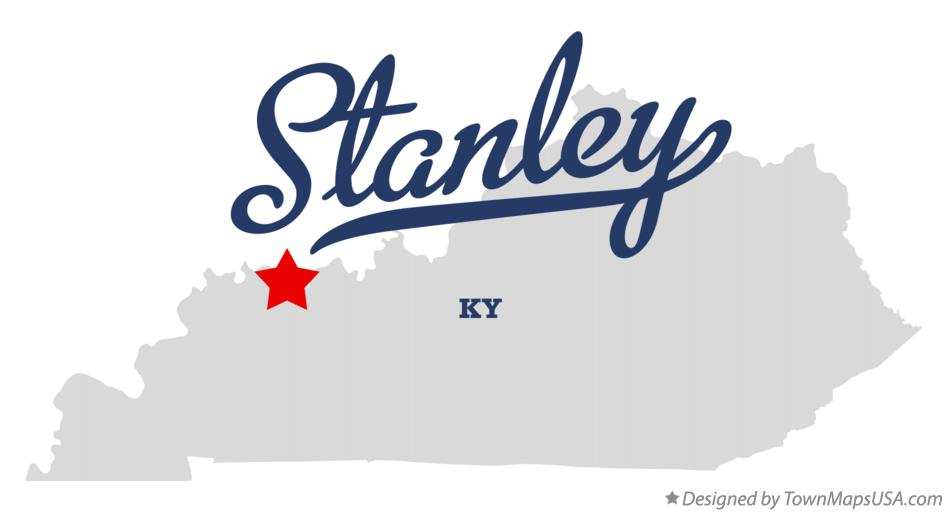 Map of Stanley Kentucky KY