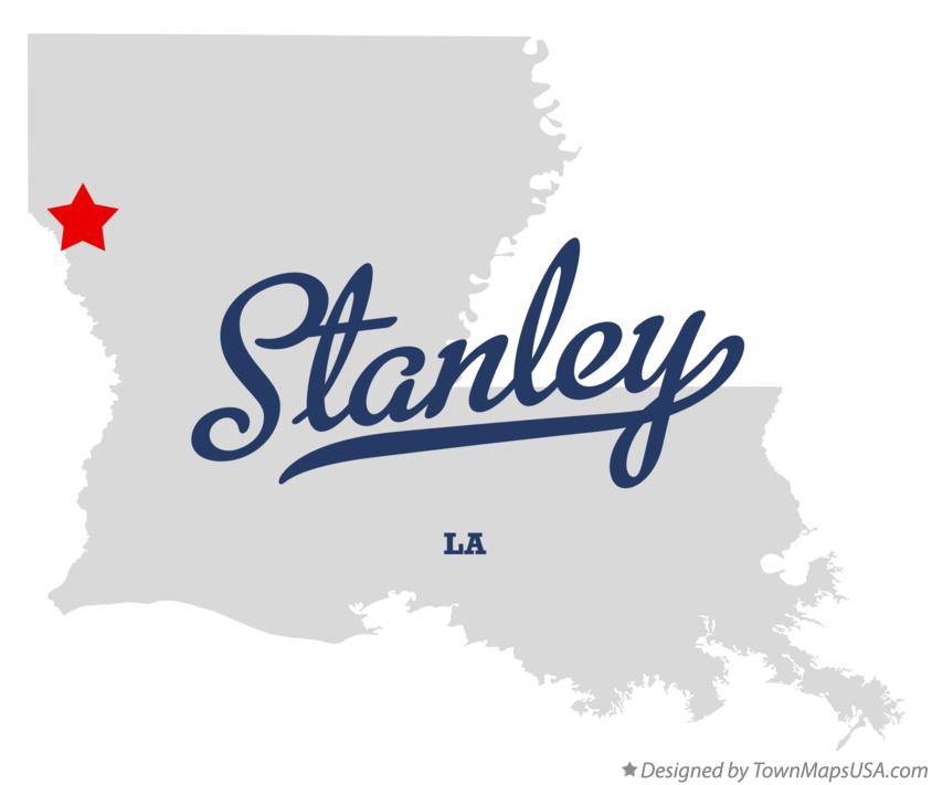Map of Stanley Louisiana LA