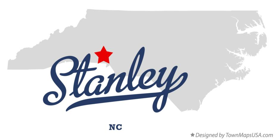 Map of Stanley North Carolina NC