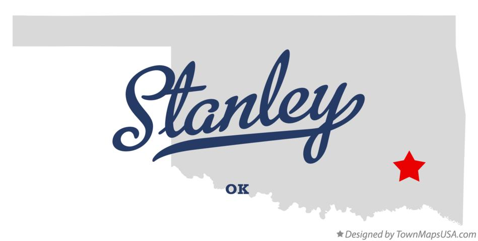 Map of Stanley Oklahoma OK