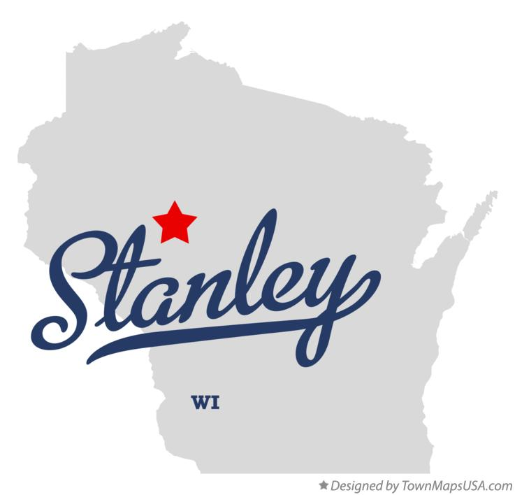 Map of Stanley Wisconsin WI