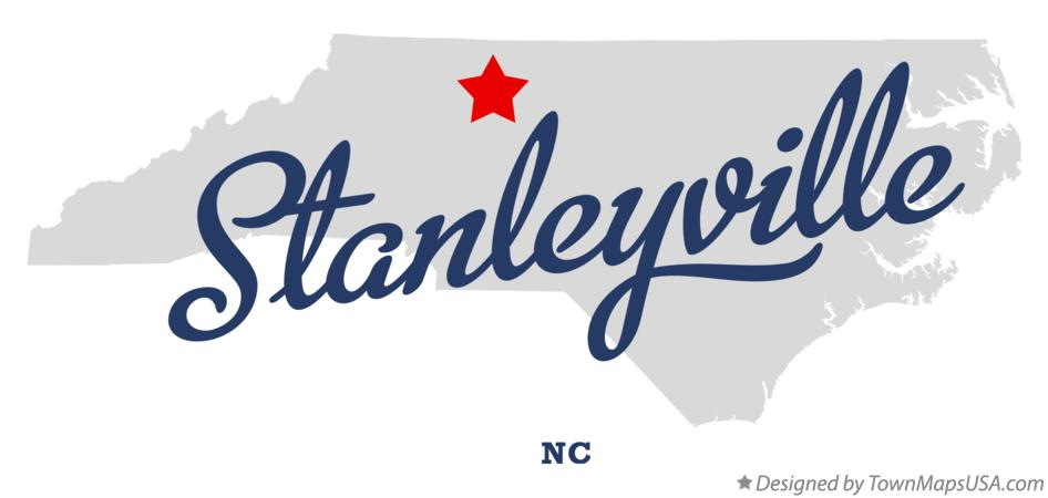 Map of Stanleyville North Carolina NC