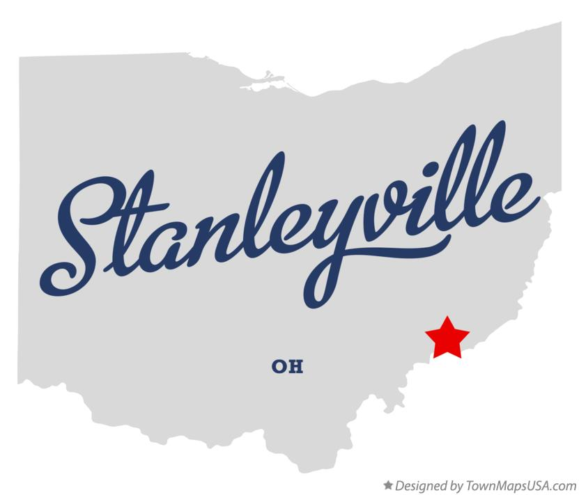 Map of Stanleyville Ohio OH