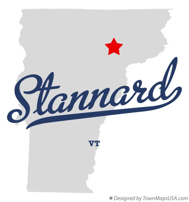 Map of Stannard Vermont VT