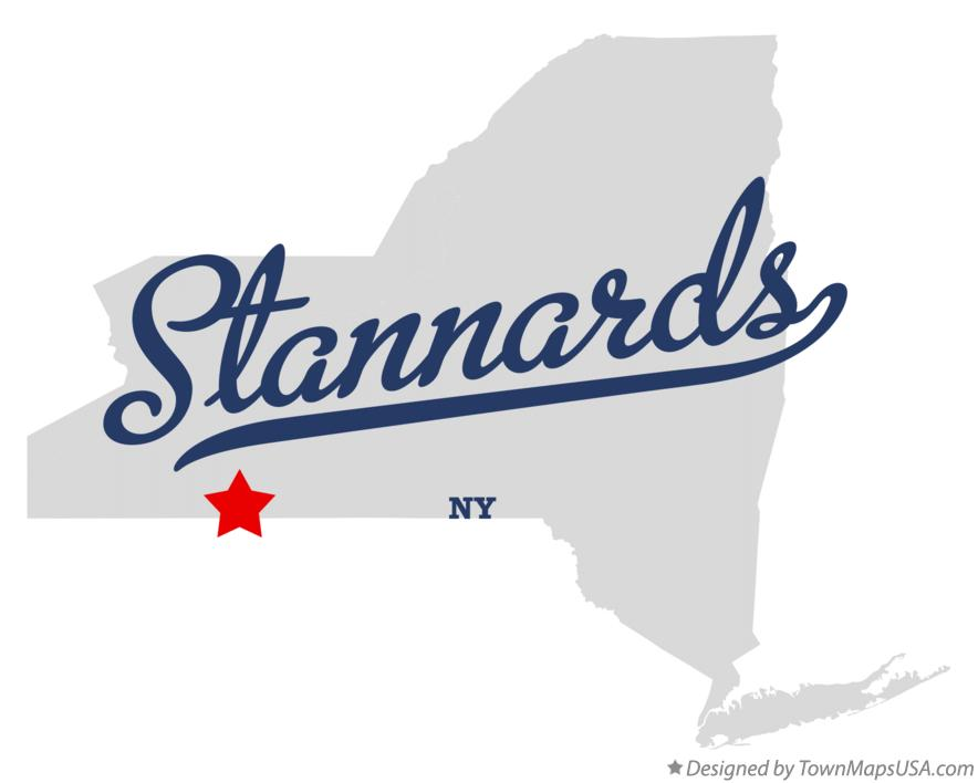 Map of Stannards New York NY