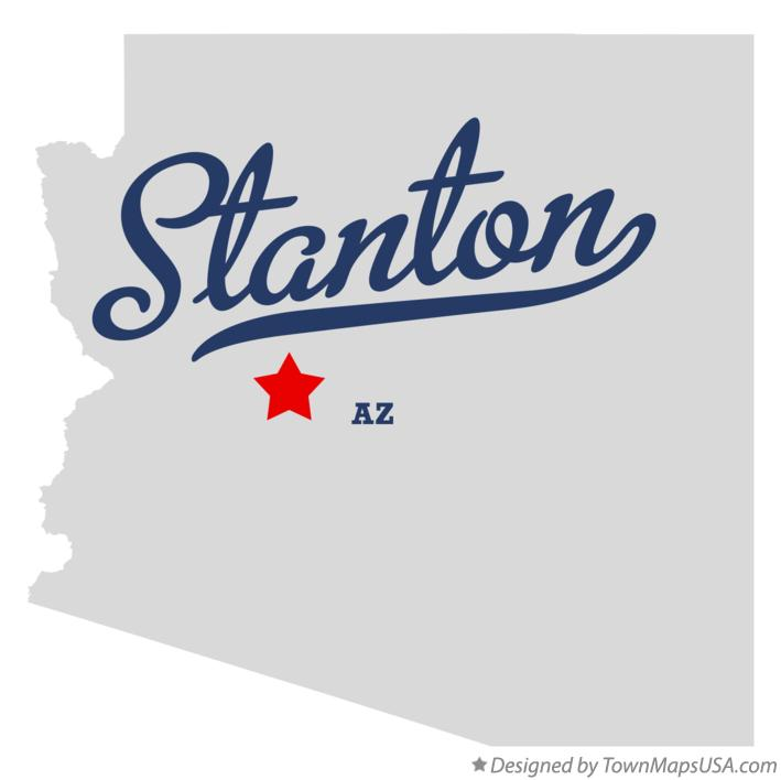 Map of Stanton Arizona AZ
