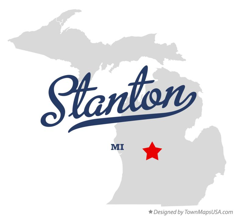 Map of Stanton Michigan MI