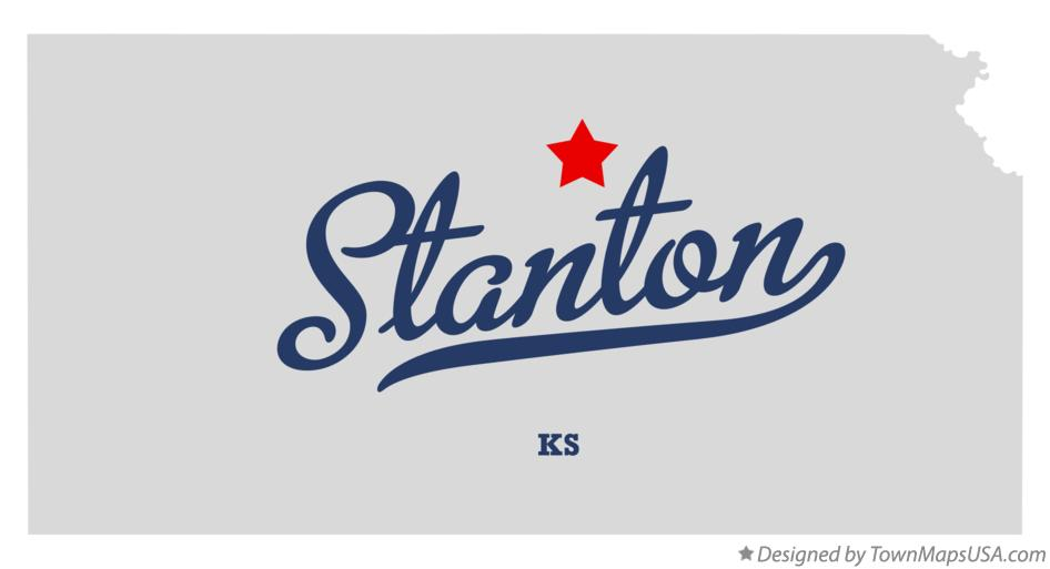 Map of Stanton Kansas KS