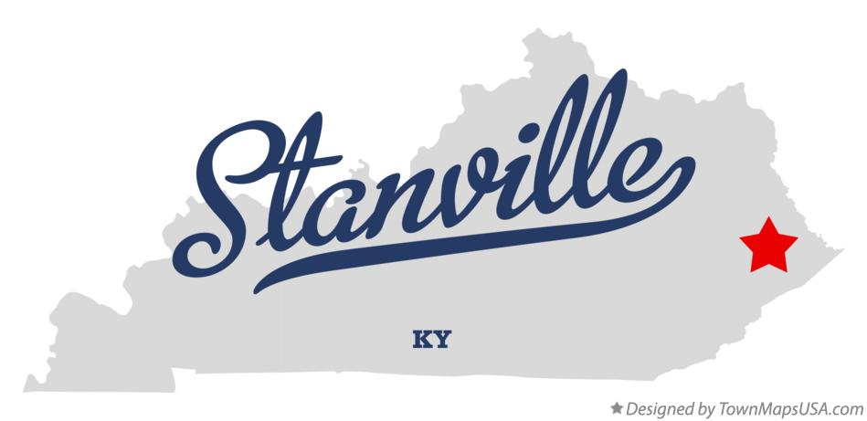 Map of Stanville Kentucky KY