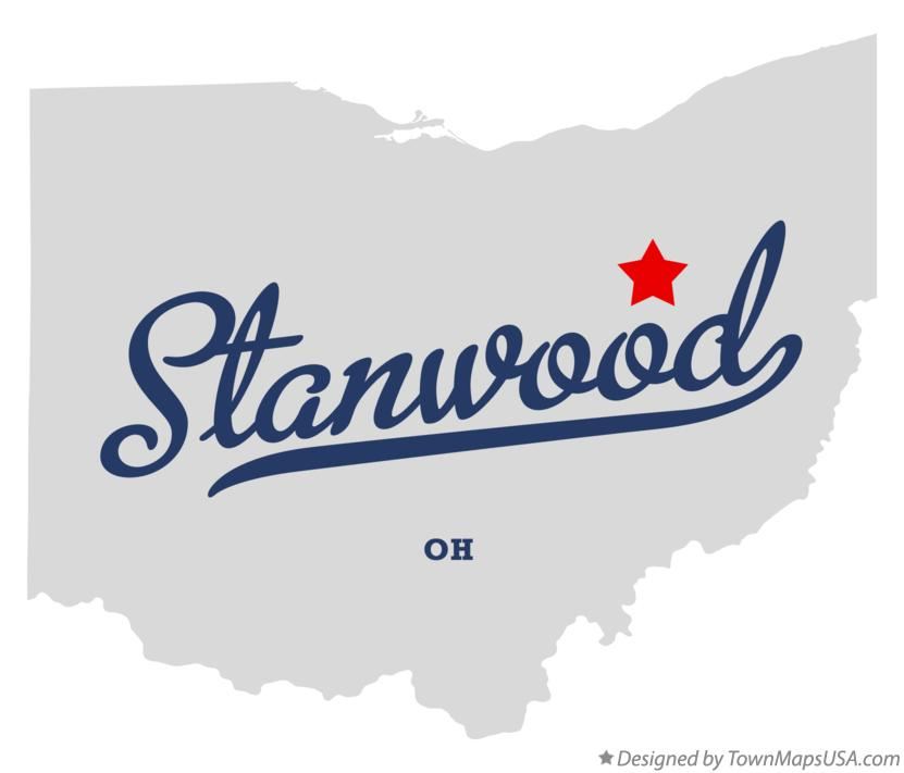 Map of Stanwood Ohio OH