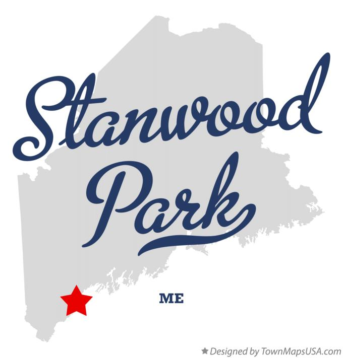 Map of Stanwood Park Maine ME