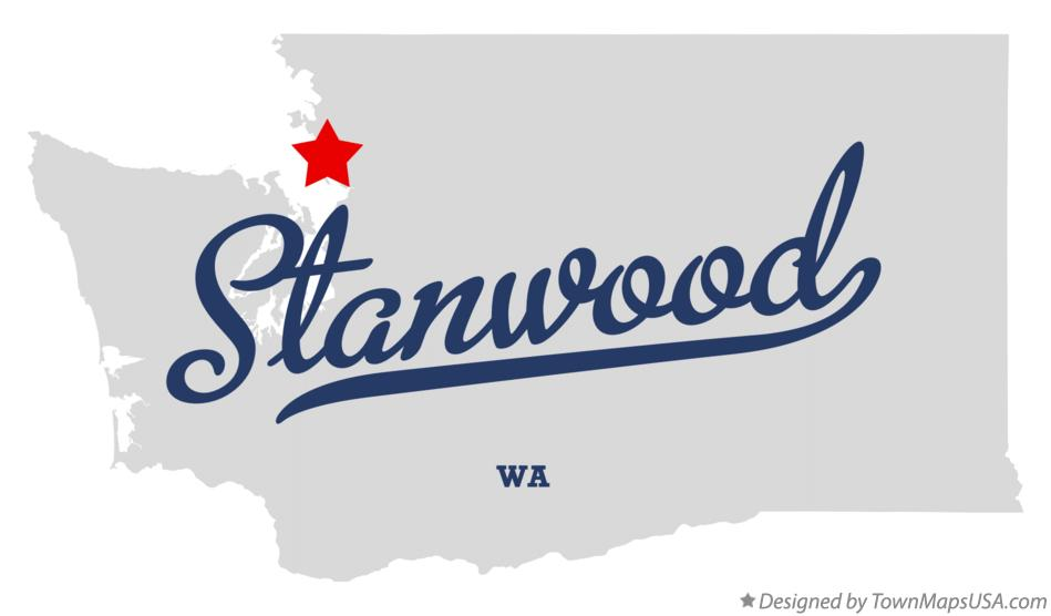 Map of Stanwood Washington WA