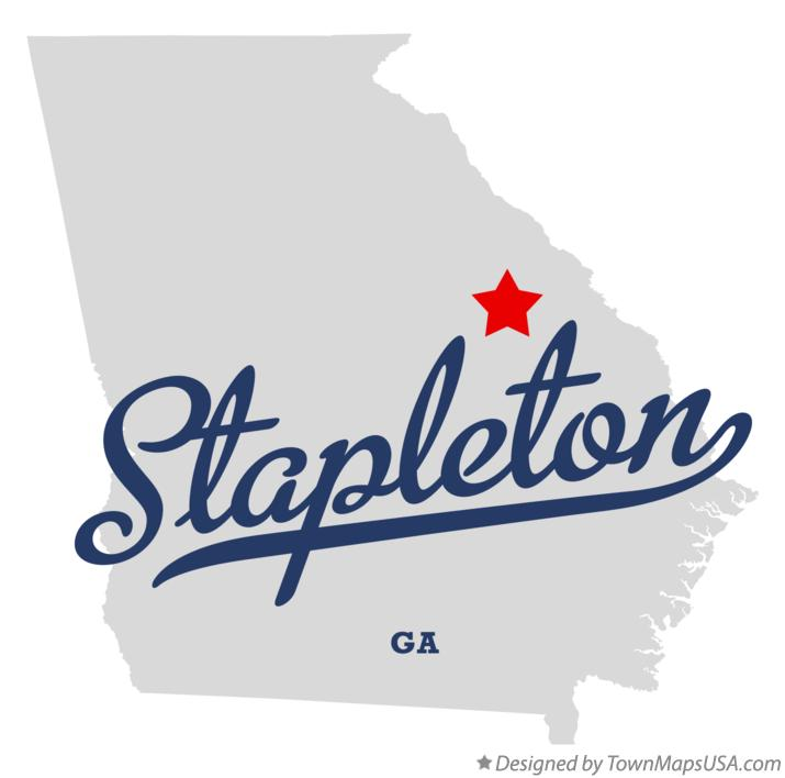 Map of Stapleton Georgia GA